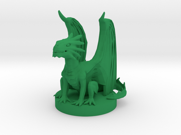 Bronze Dragon Wyrmling in Green Processed Versatile Plastic