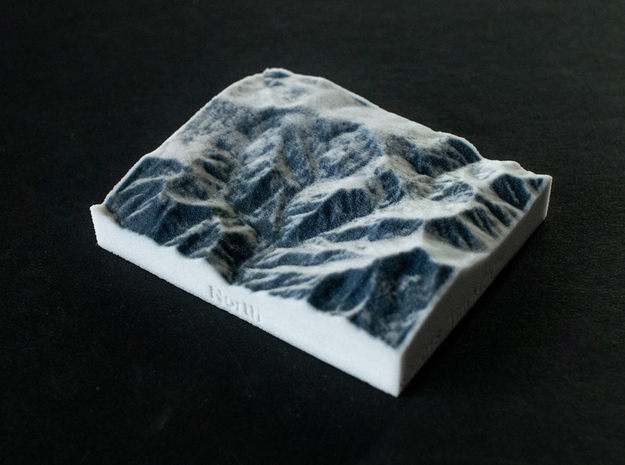 Powder Mountain, Utah, USA, 1:100000 in Full Color Sandstone