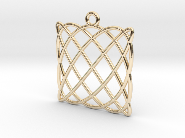 Lissajous Pendant in 14K Yellow Gold