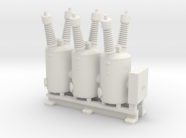 Electrical Substation Circuit Breaker in White Natural Versatile Plastic: 1:160 - N