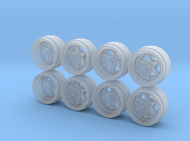 Rotiform Six 9-0 Hot Wheels Rims in Smoothest Fine Detail Plastic