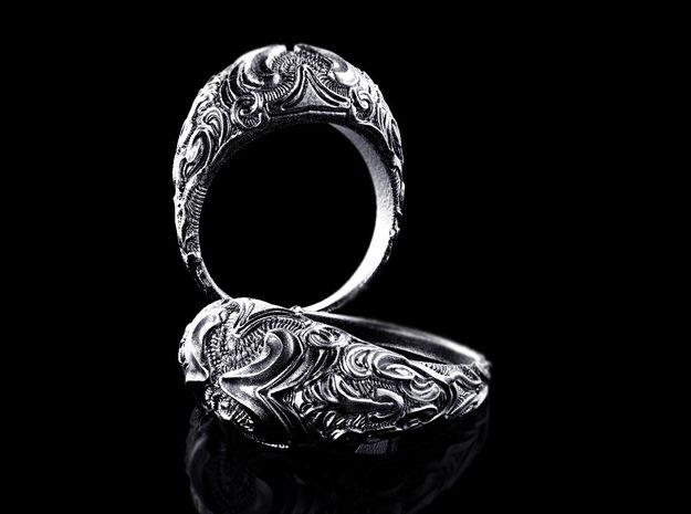 """Sculpted Dome ring """"Domus"""""""