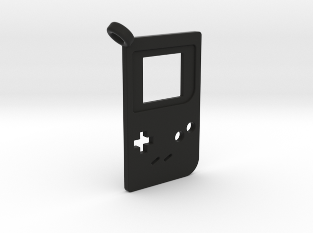 Gameboy Classic Styled Pendant in Black Natural Versatile Plastic