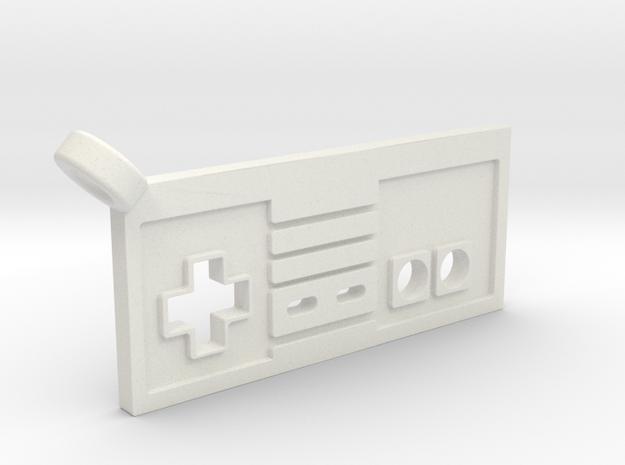 NES Controller Styled Pendant in White Natural Versatile Plastic