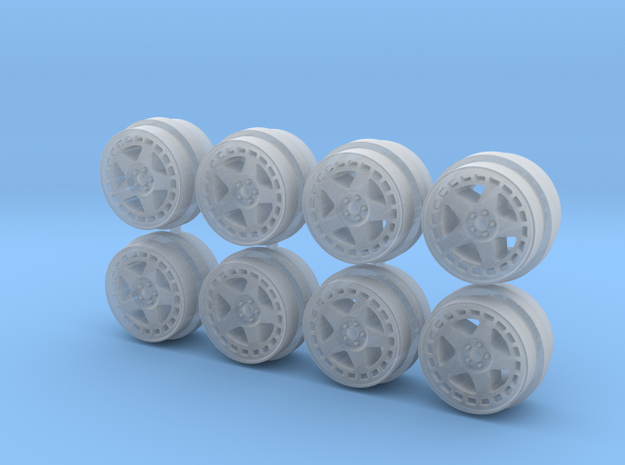 TurboMac 8-6 Hot Wheels Rims in Smoothest Fine Detail Plastic