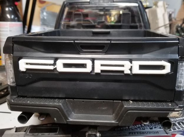RC4WD HERO Tailgate F O R D Lettering in White Natural Versatile Plastic