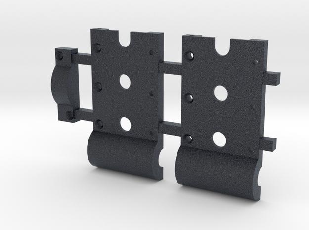 """HO Gear Box Case 0.3 mod Double Idler 1/8"""" Axle in Black Professional Plastic"""
