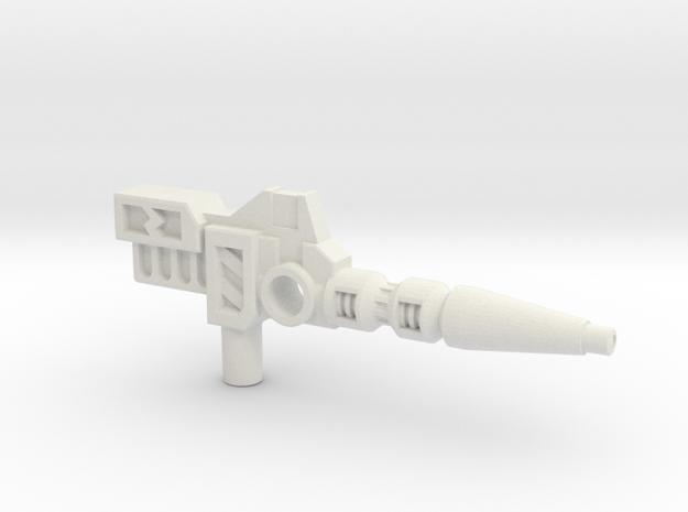 Carnivac's Anti-Thermal Cannon, 5mm in White Natural Versatile Plastic: Medium