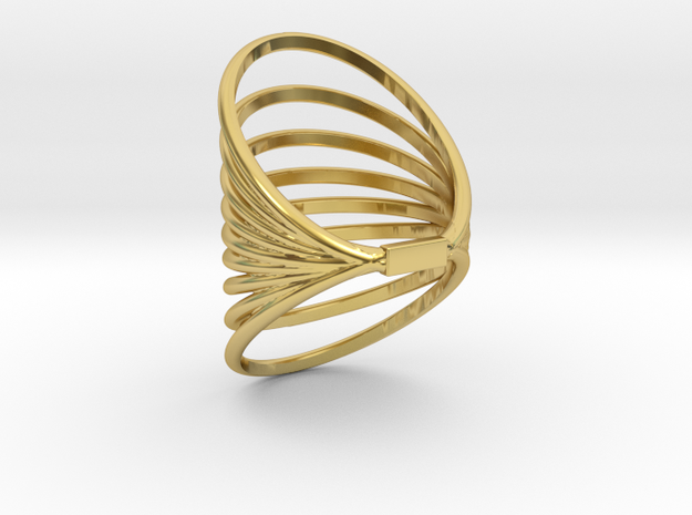 RING MAGNETIC FIELD SIZE 6  in Polished Brass