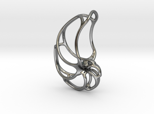 NAUTILUS FRACTAL in Fine Detail Polished Silver