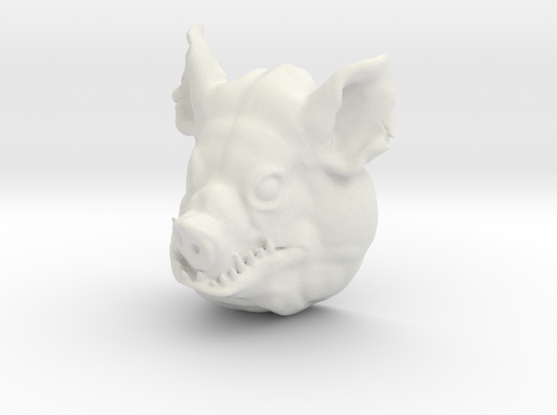 Large pighead in White Natural Versatile Plastic