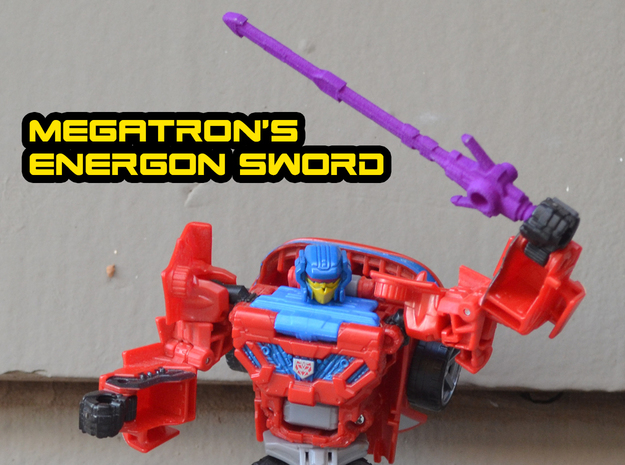 Megatron's Energon Sword (3mm, 4mm & 5mm grips) in Purple Processed Versatile Plastic: Large