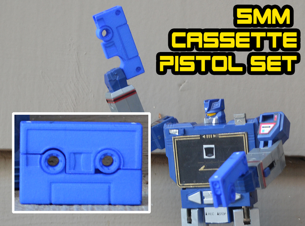 Cassette Pistol Set (5mm) in Blue Processed Versatile Plastic