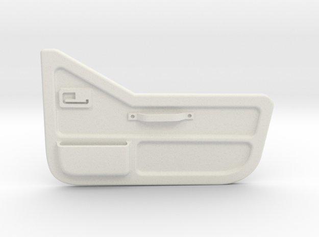 Tamiya Jeep YJ inner door for half door (passenger in White Natural Versatile Plastic