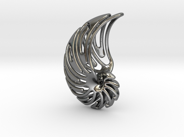 NAUTILUS TRIBAL in Fine Detail Polished Silver