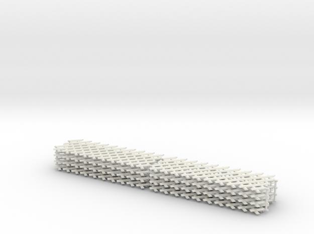 Jägerzaun 8 Elemente in White Natural Versatile Plastic