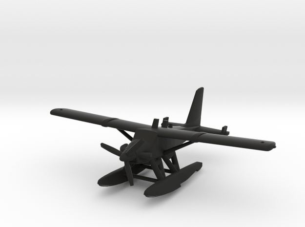 de Havilland Canada DHC-2T Turbo Beaver Seaplane in Black Natural Versatile Plastic: 1:200