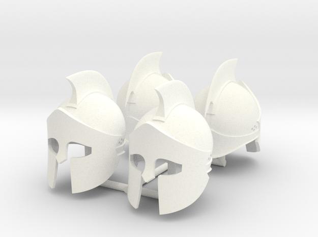 300-2 HELMET x4 in White Processed Versatile Plastic
