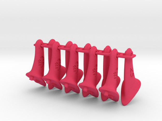 10 pcs. 25mm F2D Control Horn - v2.1 in Pink Processed Versatile Plastic