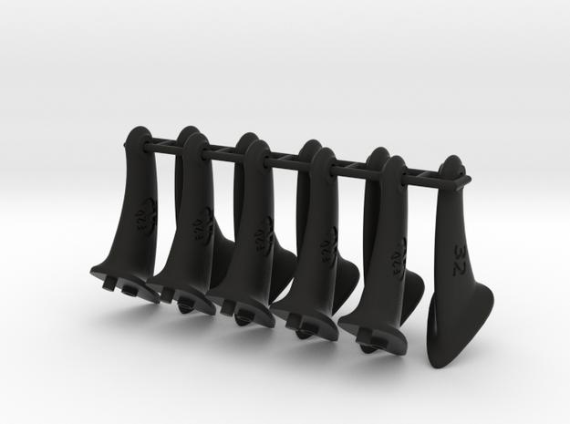 32mm F2D Control Horn - v2.1 in Black Natural Versatile Plastic