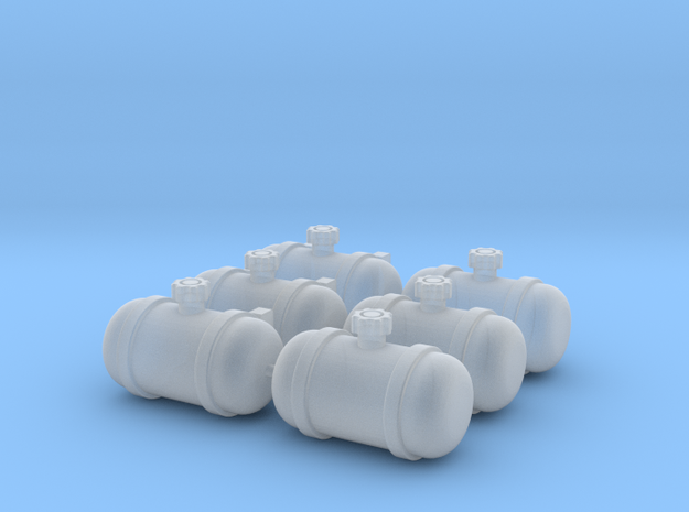 Set of 6 - Gasser Fuel Tanks  in Smoothest Fine Detail Plastic