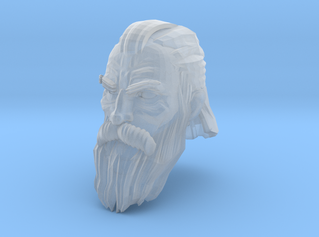 dwarf head 6 in Smooth Fine Detail Plastic