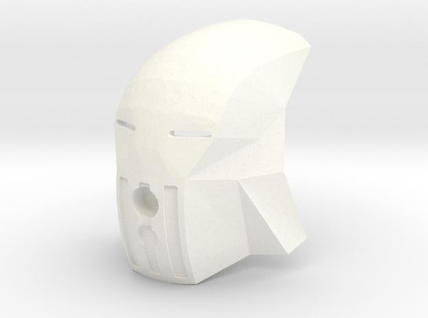 Scopeless Kanohi Matatu in White Processed Versatile Plastic
