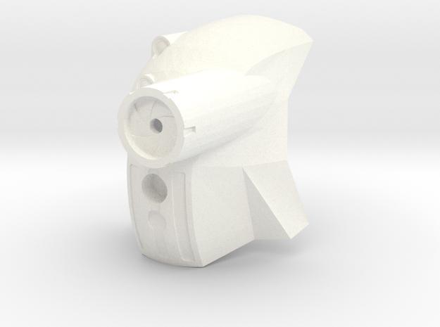 Kanohi Matatu (set form 2018) in White Processed Versatile Plastic