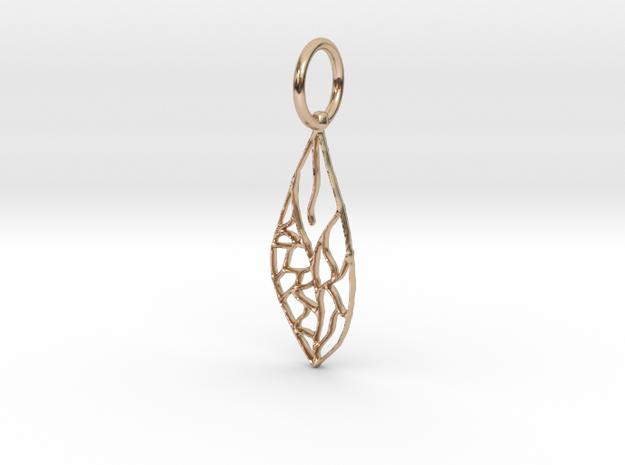 Leaf Pendant in 14k Rose Gold