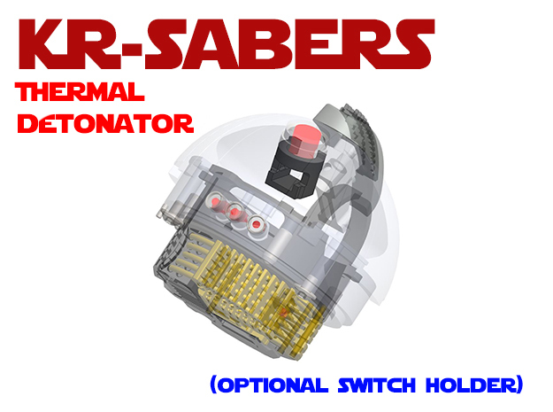 KR-Sabers - Thermal Detonator Optional Aux in White Natural Versatile Plastic