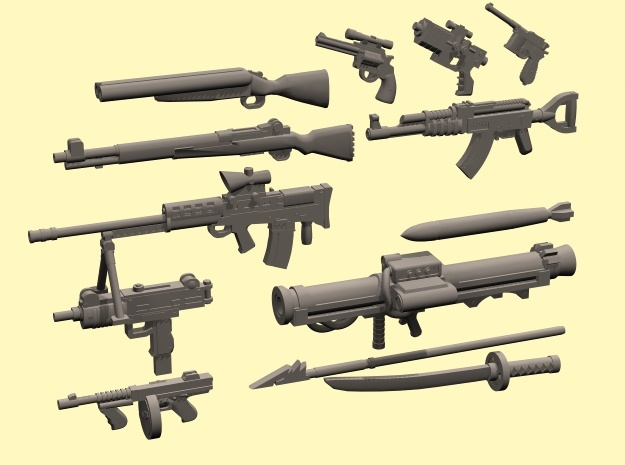 28mm Wastefall weapons 2