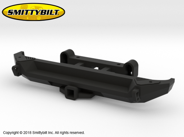BR10004 Smittybilt Rear Gen 2 bumper in Black Natural Versatile Plastic