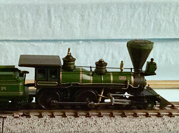 N Scale Locomotive 'Bonnet' Stack (Single) in Smoothest Fine Detail Plastic