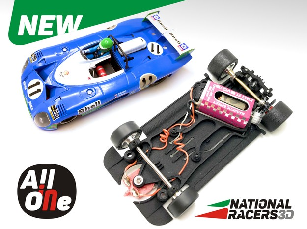 Chassis - SRC Matra 670 / 670B (AW - AiO) in Black PA12