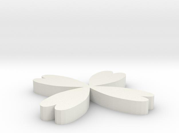 Clover in White Natural Versatile Plastic