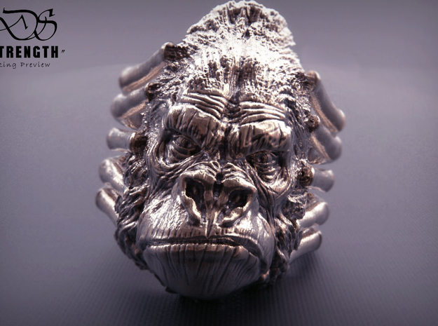 Gorilla Ring size15 in Natural Bronze