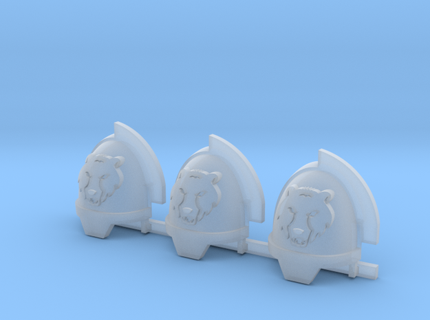 Commission 64 Aggressors Shoulder Pads x3 R in Smooth Fine Detail Plastic