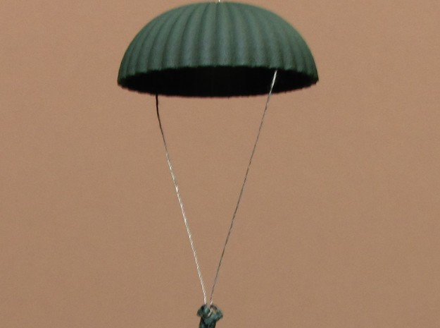 1/160 N scale army parachute para Fallschirm in White Natural Versatile Plastic