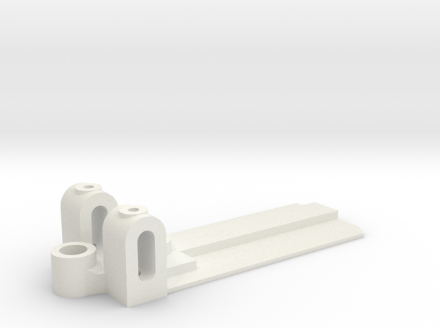 20mm Wide, 50mm long Front End, standard guide in White Natural Versatile Plastic