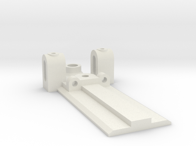 25mm Wide, 50mm long Front End, standard guide in White Natural Versatile Plastic