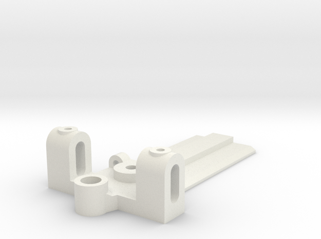 30mm Wide, 50mm long Front End, standard guide in White Natural Versatile Plastic