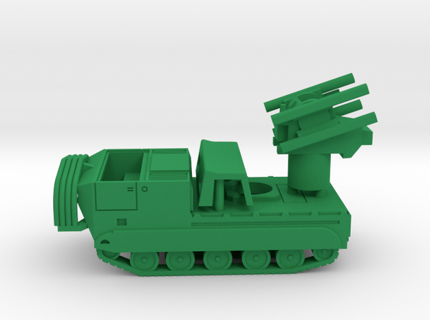 M-730a1 Chaparral in Green Processed Versatile Plastic: 1:144
