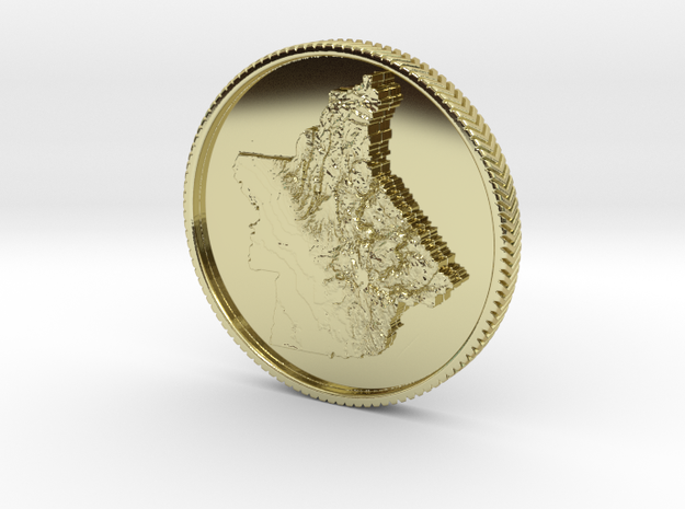Butte Strong Coin in 18k Gold Plated Brass