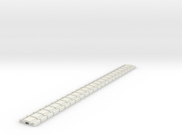 p-9stg-slim-flexi-tram-track-100-x24-1a in White Natural Versatile Plastic