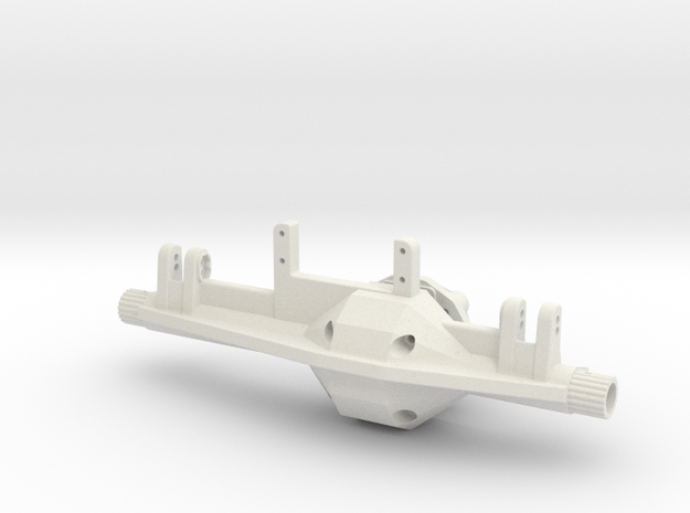 Interceptor Front Axle in White Natural Versatile Plastic