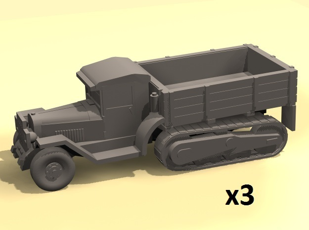 1/160 ZIS-42 half truck in Smoothest Fine Detail Plastic