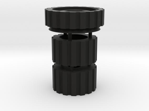 Thumbwheel Set (Part TWAAC) in Black Natural Versatile Plastic