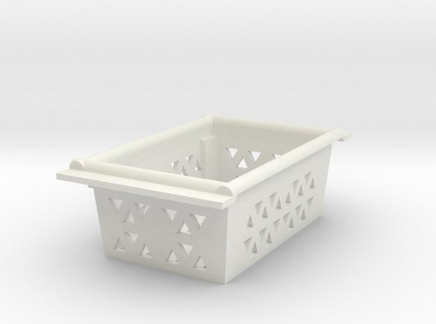 JaBird RC G6/Deadbolt Cargo Basket in White Natural Versatile Plastic