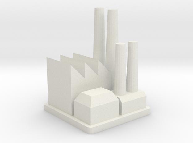 Major Industrial Complex in White Natural Versatile Plastic