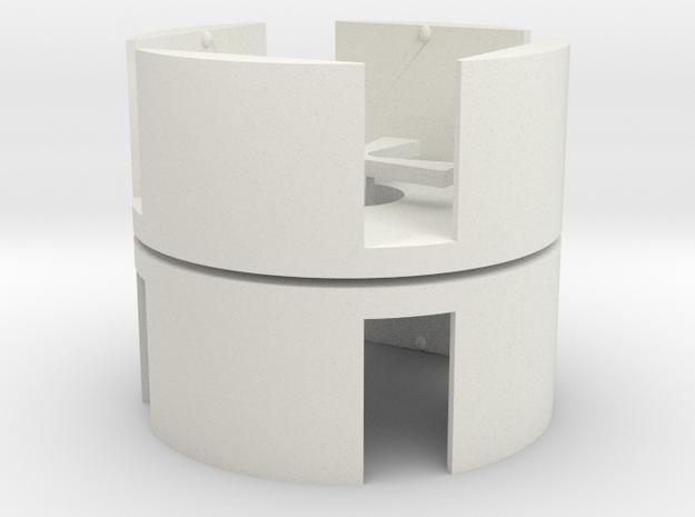 D6 Holder (12mm) (pair) in White Natural Versatile Plastic